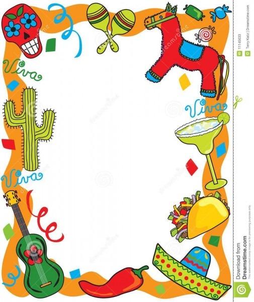 Mexican Fiesta Party Invitation Stock Vector