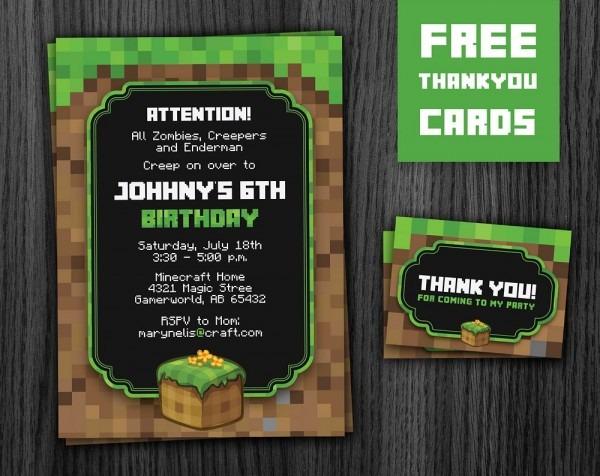 Phorest Studio » Minecraft Invitation Printable, Minecraft Party