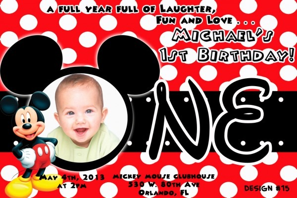 Minnie Mouse 1st Birthday Personalized Invitations From