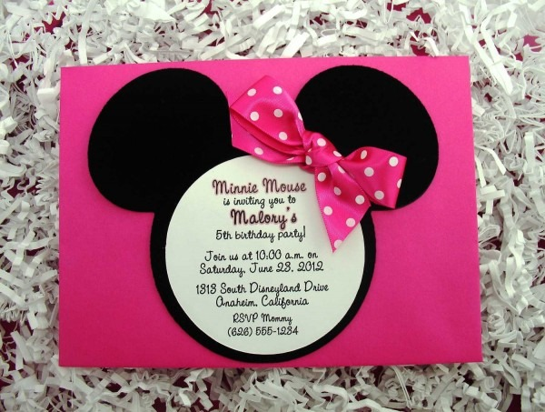 Minnie Mouse Birthday Party Invitations In Addition To Redesign