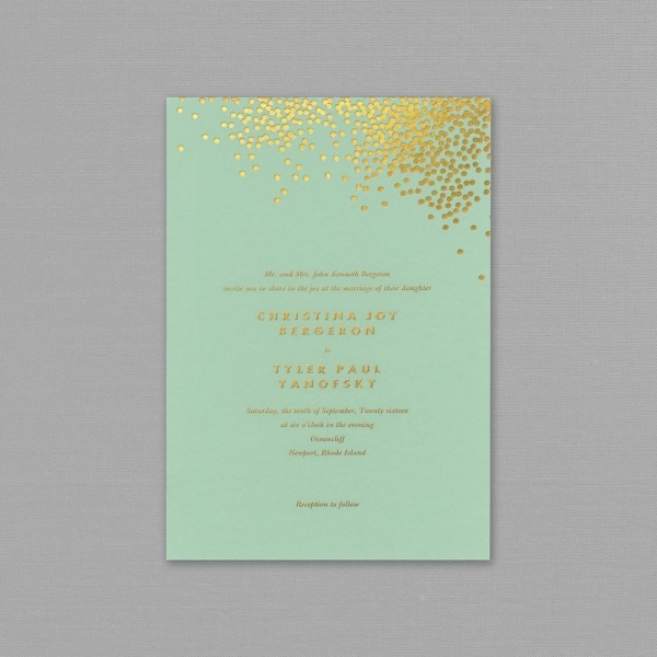 Mint And Gold Wedding Invitations Mint And Gold Wedding