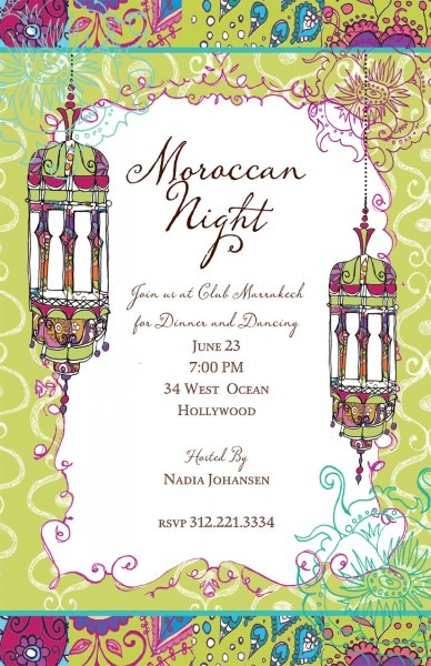 Moroccan Themed Party Decor Elegant Email Birthday Invitations
