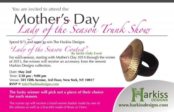 Mother's Day   Lady Of Season  Trunk Show