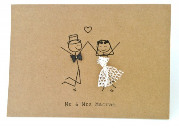 Mr Mrs Stick Figures Thankyou Wedding On Second Wedding