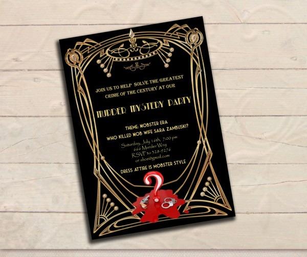 1920s Invitation Template Free