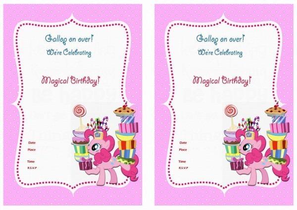 My Little Pony Birthday Invitation Unique My Little Pony Printable