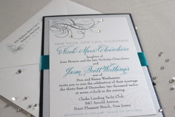 New Years Eve Wedding Invitations New Years Eve Wedding