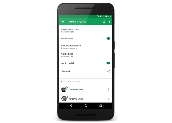 Hangouts 11 Lets You Invite More People To Groups With A Shared