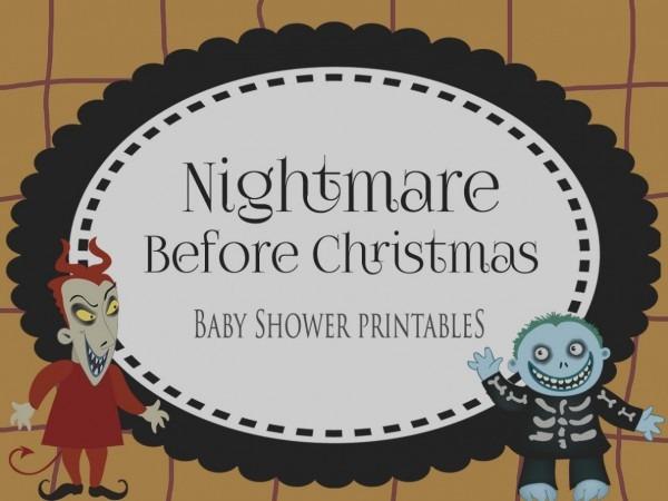 2018 Nightmare Before Christmas Baby Shower Invitations