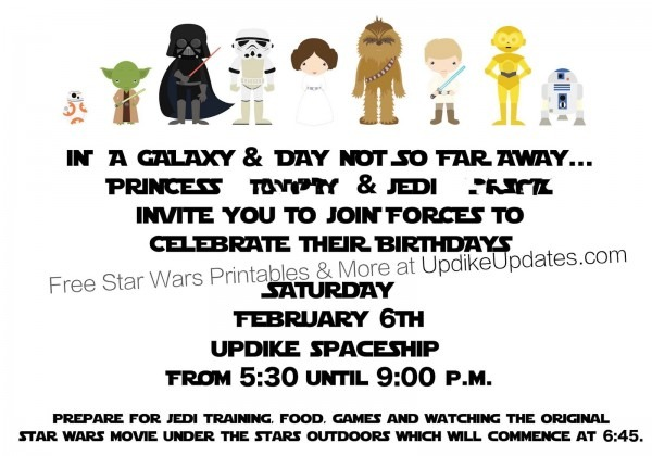 One Stop Star Wars Party Cute Free Star Wars Party Invitations