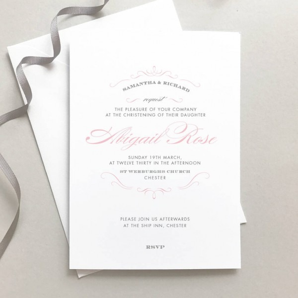Personalised Christening Invitation By Project Pretty