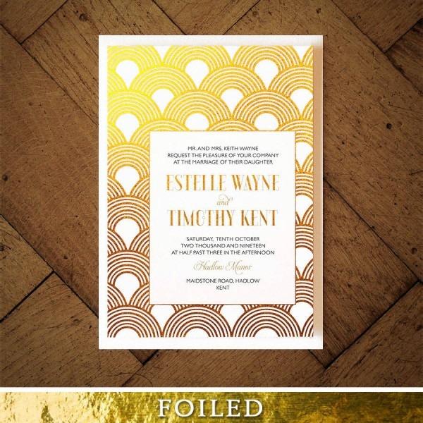 Great Gatsby Wedding Invitation By Feel Good Wedding Invitations