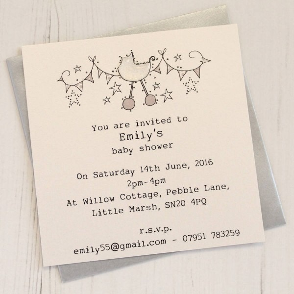 Personalised Baby Shower Invitation Pack By Eggbert & Daisy
