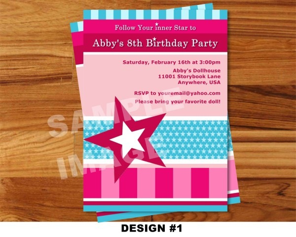 Outstanding American Girl Birthday Invitations Cute American Girl
