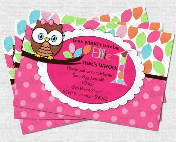 Owl Birthday Invitations With Best Accessories And Designing