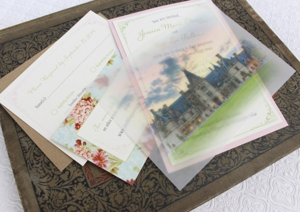 Vellum Overlay Vintage Wedding Invitation (biltmore Estate)