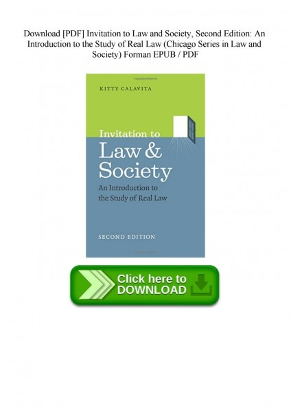 Download [pdf] Invitation To Law And Society Second Edition An