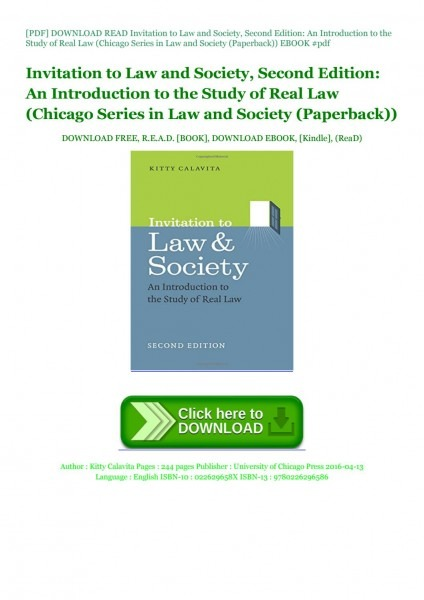 Pdf] Download Read Invitation To Law And By Dalidazeolla
