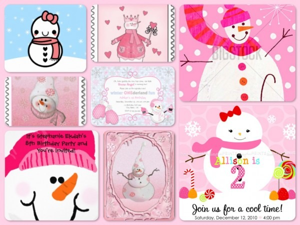Snowman Theme Girls 1st Birthday Party Planning, Ideas & Supplies