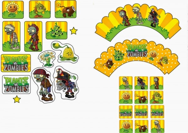 Plants Vs Zombies Free Printable Party Kit New Templates Of Plants