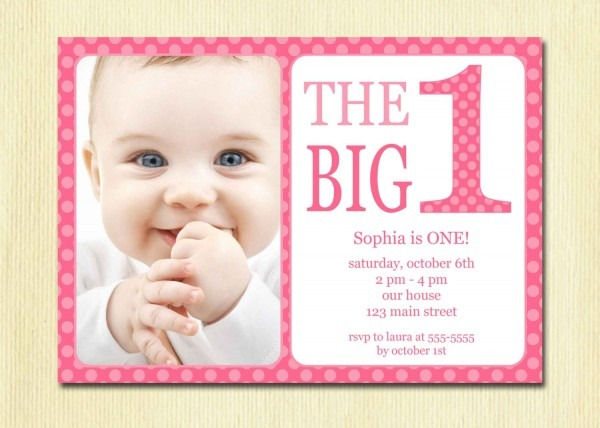 Polkadot Pink St Invitation Template Epic First Birthday Party
