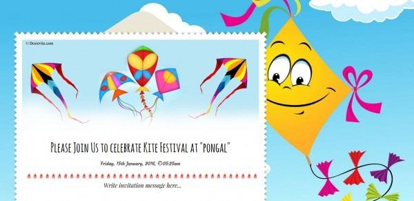 Free Pongal Invitation Card & Online Invitations