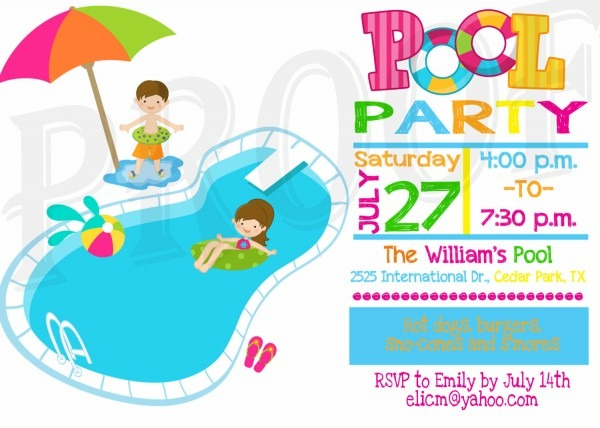Pool Party Invitation Pool New Kids Pool Party Invitations