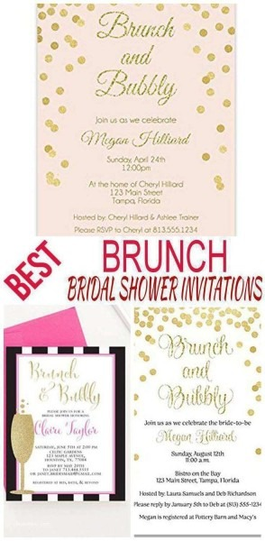Amazing Wedding Shower Brunch Invitations With Bridal Michaels