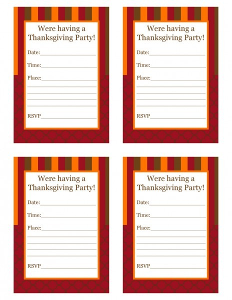Printable Thanksgiving Invites – Festival Collections