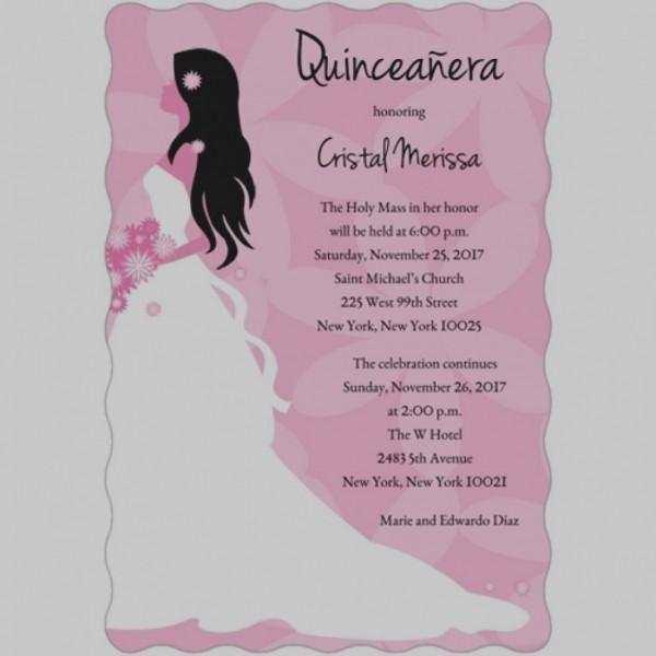 Quinceanera Invitation Examples Archives