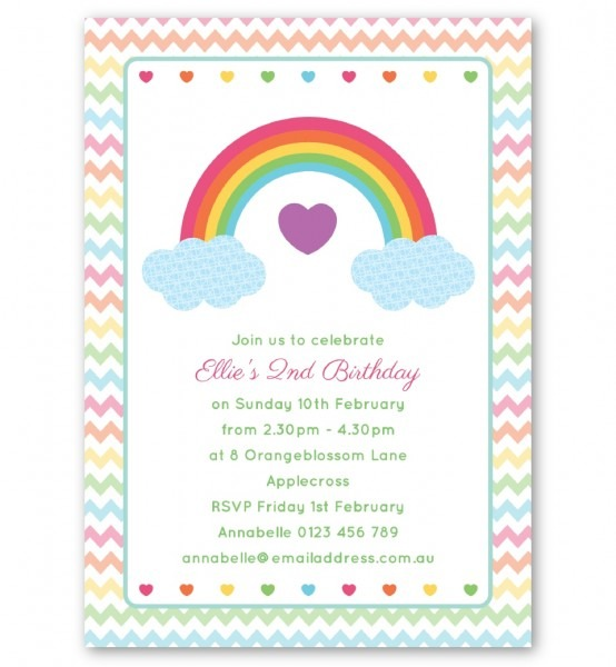 Rainbow Birthday Invitation