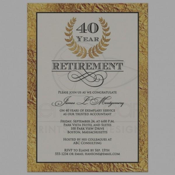 2019 Retirement Party Invitations