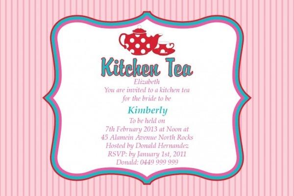 Kitchen Tea Party Invitation Ideas