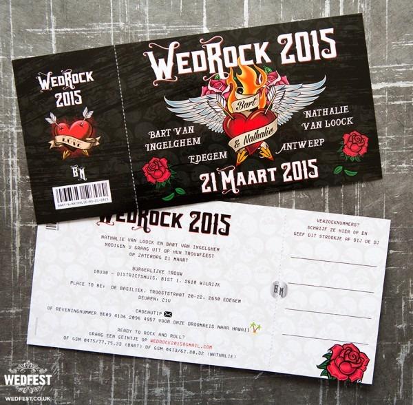 Wedrock Rock 'n' Roll Wedding Invitations