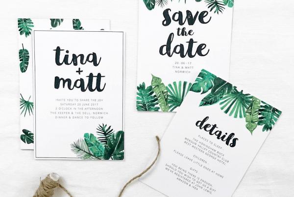 Wedding Invitations In Norwich By Sam Wood Wedding Stationery
