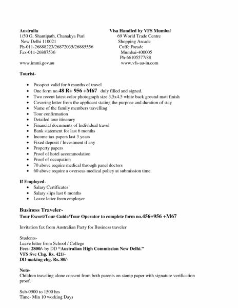 Cover Letter For Tourist Visa Application Germany November 2020