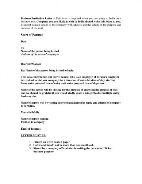 Sample Hr Letter For Visa Application Save Sample Invitation