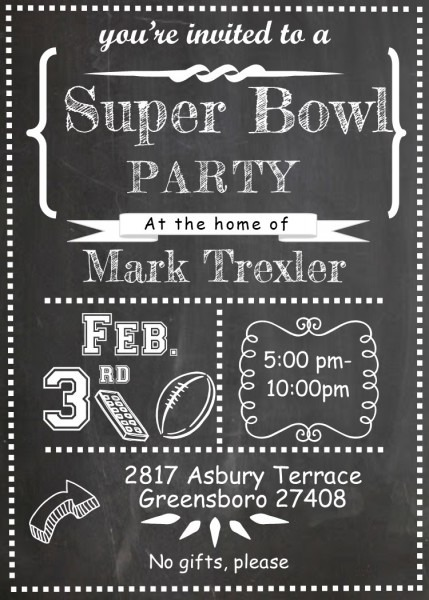 Super Bowl Party Invitations 2019