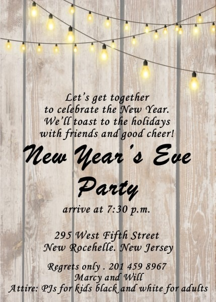 New Year's Eve Party Invitations 2019