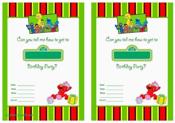 Sesame Street Invitations Template Unique Download Free Printable