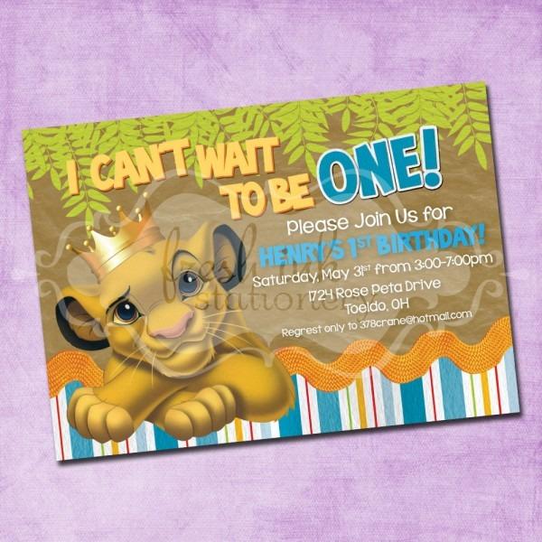Simba Lion King Birthday New Lion King Birthday Invitations