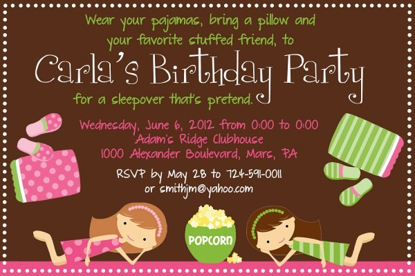 Invitation Ideas  Almost Sleepover Party Invitations