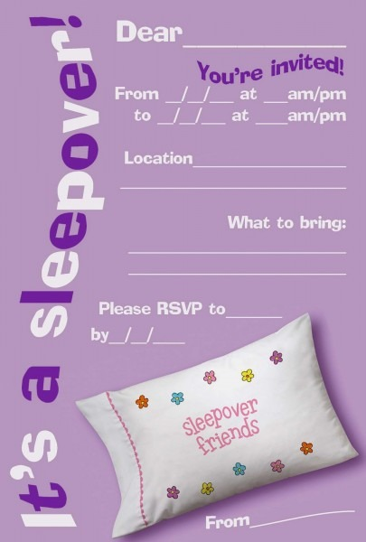 Slumber Party Invitations Beautiful Invitations For Sleepover