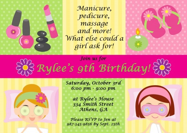 Spa Party Invitations Are Easy To Make