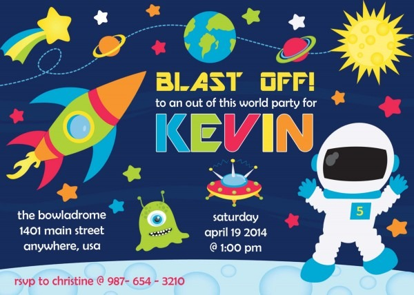 Space Party Invitations Awesome Space Birthday Invitations