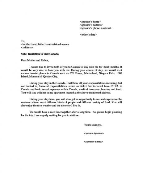 Sponsorship Letter For Student Visa Germany Canada Usa Sample