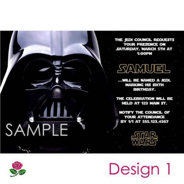 Star Wars Party Invitations Free Printable Great Star Wars