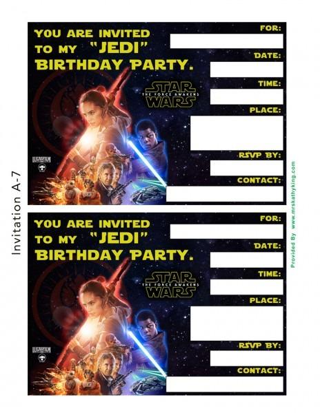 Starwarsvii A Invitations Unique Free Star Wars Printable Birthday