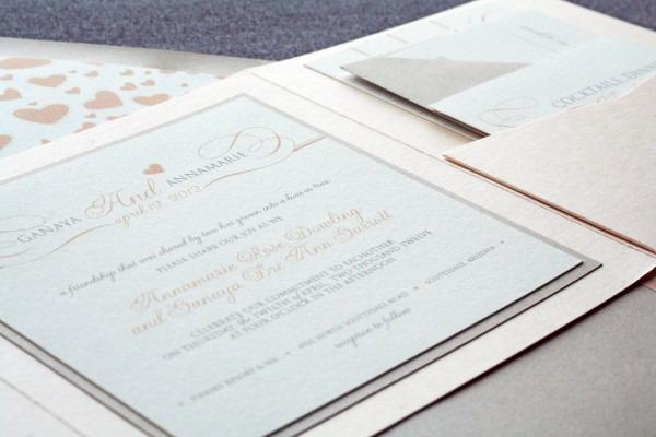 Stunning Romantic Wedding Invitations Blush Wedding Invitations