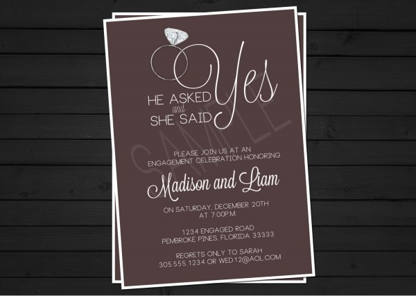 Stunning Engagement Party Invitations Engagement Party Invitations